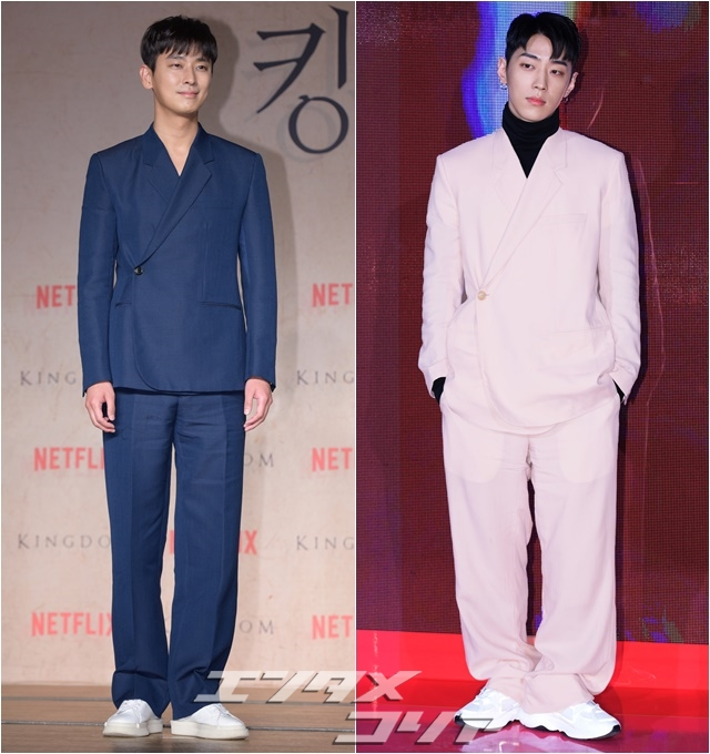 Actor Ju Ji-hoon, Rapper Gray Get Very Different Looks from Same Suit