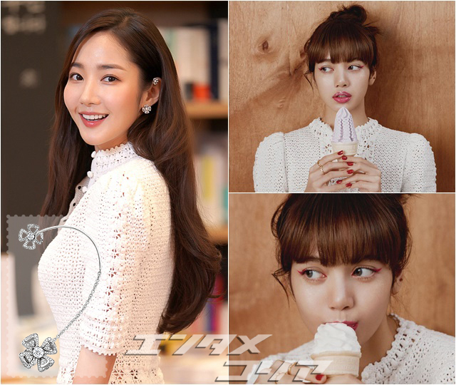 Actress Park Min-young, Black Pink's Lisa Get Contrasting Looks in Crochet Dress