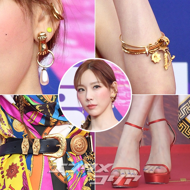 Taeyeon Rocks Versace on Red Carpet for Annual Music Awards