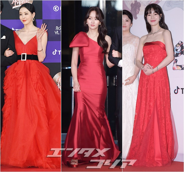 Stars Strut Their Stuff in Red on the Red Carpet