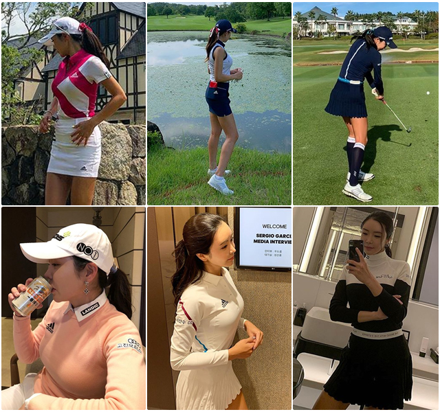 Golfer Ahn Shin-ae Turns Heads Both on and off the Course