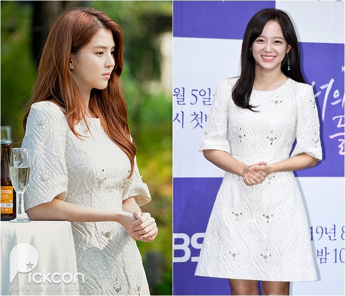 Actress Han So-hee, Singer Kim Se-jeong Stand out in White Dress