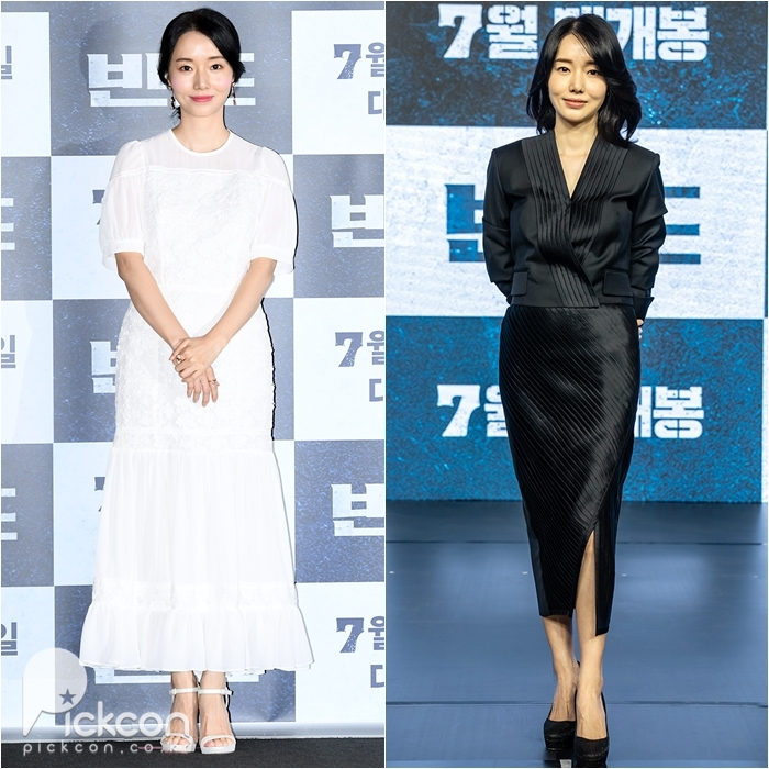 Lee Jung-hyun Goes for Contrasting Looks at Press Events for Her Latest Zombie Flick
