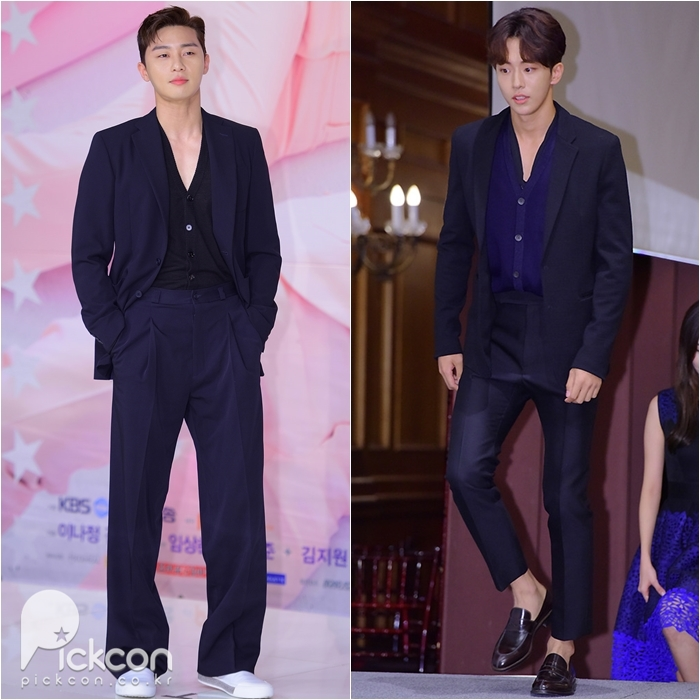 Two Heartthrobs Look Trendy But Classic in Suits
