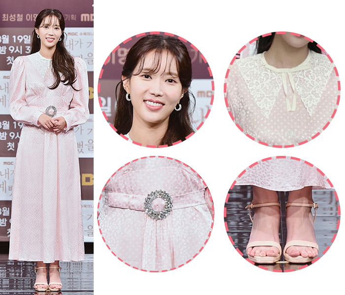 Actress Lim Soo-hyang Creates Innocent Look in Pale Pink Dress