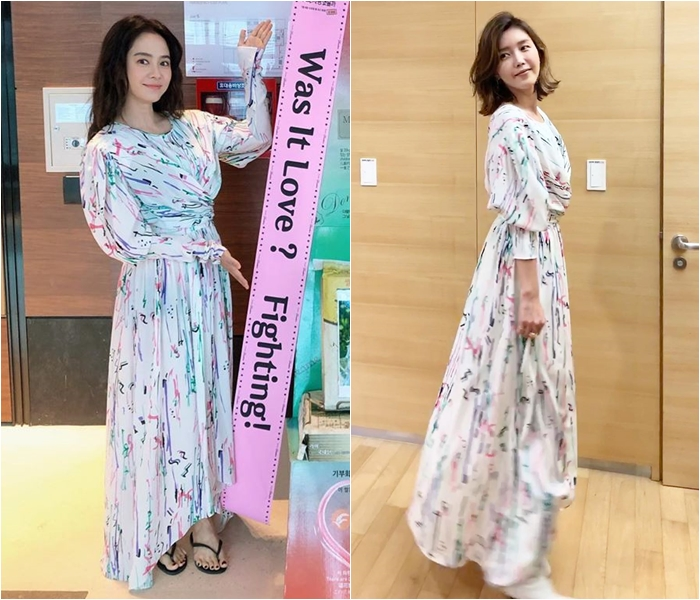 Actress Song Ji-hyo Radiant in Goddess-Style Dress