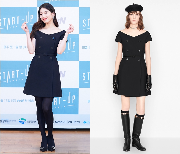 Su-zy Adds Luxurious Touches to Classic Black Outfit