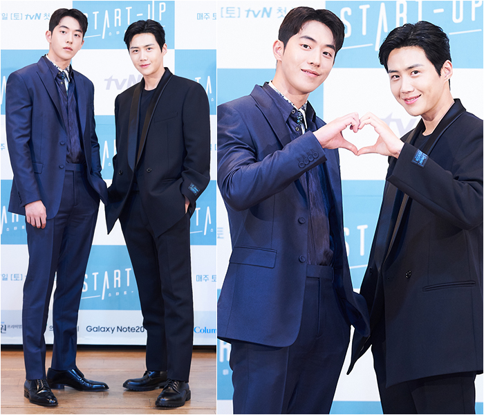 Actors Nam Joo-hyuk, Kim Seon-ho Show off Versatile Chicness in Classic Suits
