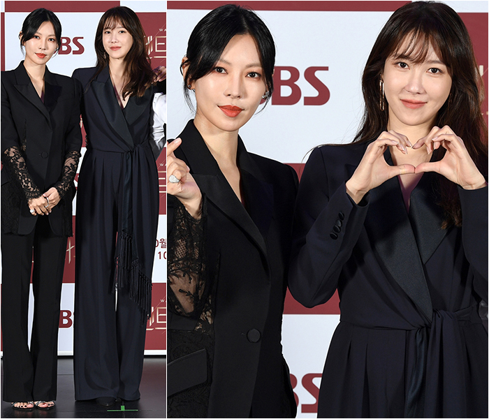 Kim So-yeon, Lee Ji-ah Opt for Mannish Touch in All-Black Outfits