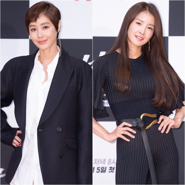 Kim Sung-ryung, Lee Si-young Appear in Stunning Outfits to Promote Their New TV Show