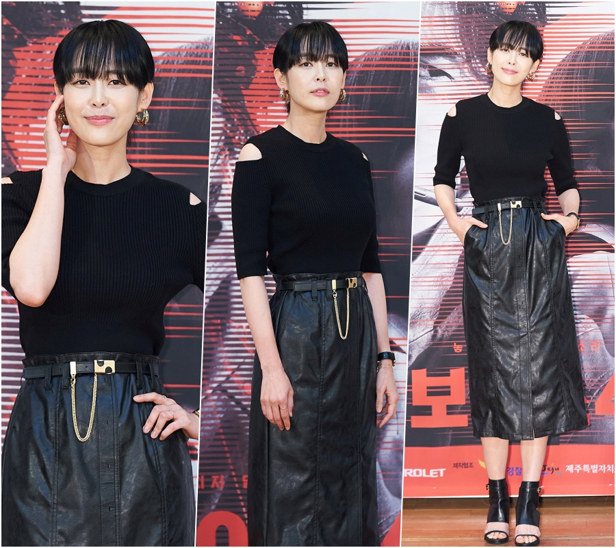 Song Seung-heon, Lee Ha-na Look Harmonious in Black Outfits